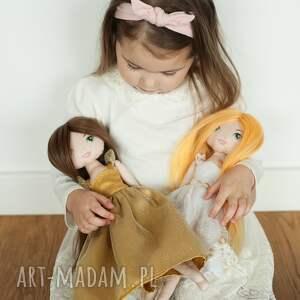 złota lalki księżniczka - bawełniana