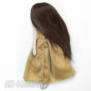 złote lalki lalka piękna laleczka z długimi włosami, które można