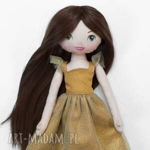 ręczne wykonanie lalki lalka złota księżniczka - bawełniana