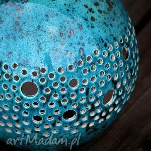 lampy lampa ball kinkiet turkusowy