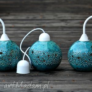 białe lampy kinkiet ball lampa turkusowy