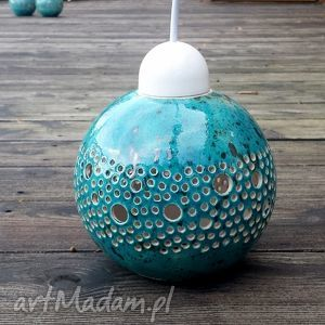 lampa turkusowe ball wisząca turkusowa