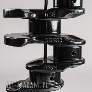 design crank lampka nocna, prosta czarna
