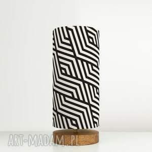 efektowne retro lampa dekoracyjna czarna biała