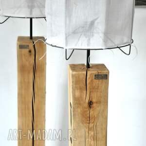 debowa lampa loft drewniana, dębowa