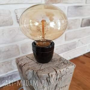 unikalne decor lampa loft - drewno z recyklingu
