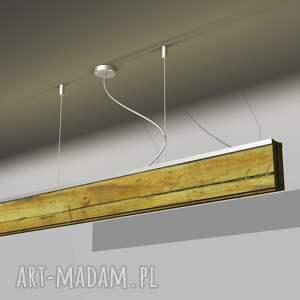 gmo design Lampa RIFT -100cm Dąb Dół Listwa Czarna - sufitowa