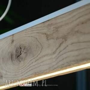 industrial brązowe lampa o długości: 160 cm z satynową listwą