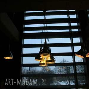 srebrne lampy ocynk lampa z lejka