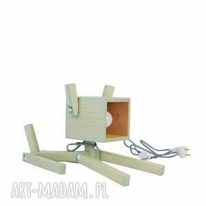 drewno lampy brązowe lampka puppy mint 004