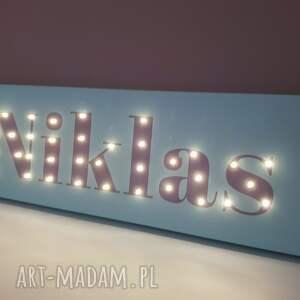 lampy imię obraz z imieniem napis led