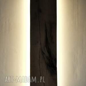 białe lampy debowy plafon/kinkiet dębowy led