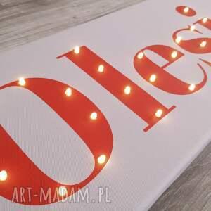 ciekawe lampy obraz napis led twoje imię świecący