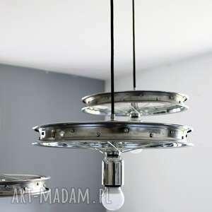 okrągły potrójna lampa wisząca