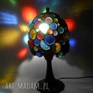 kolorowe lampy rekodzieło prezent niezwykły. lampa hand made