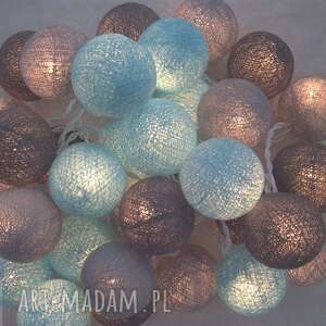 szare lampy domu qule lampki cotton ball lights