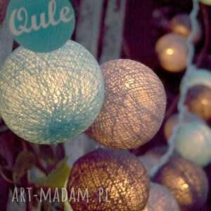 unikalne lampy wystrój qule lampki cotton ball lights