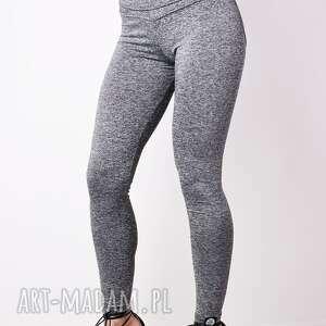 pushup legginsy elastyczne bawełniane szare