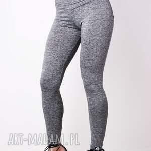 Modne unikatowe legginsy push up serce unoszące pośladki m - damskie melanzowe
