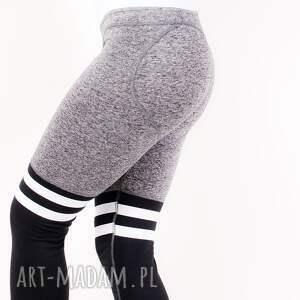 szare legginsy spodnie wyszczuplające elastyczne