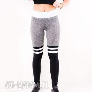 sportowe legginsy białe wyszczuplające elastyczne