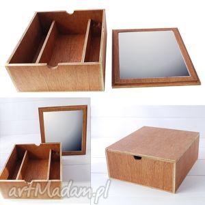 lusterka toaletka - box, duża, drewniana