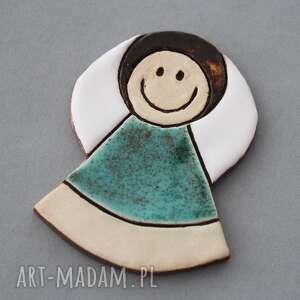 niepowtarzalne minimalizm aniołek magnes ceramiczny