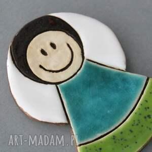 ręcznie wykonane magnesy minimalizm aniołek magnes ceramiczny