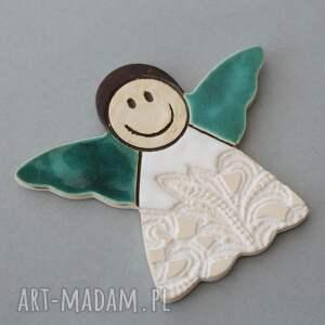 efektowne minimalizm aniołek magnes ceramiczny