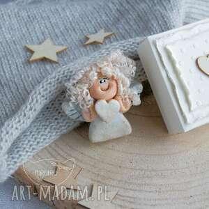 srebrne kartka aniołek stróż - uroczy prezent