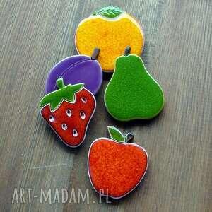 magnesy truskawka ceramiczne owoce na magnes