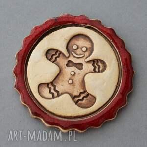 pomysły na upominki świąteczne czerwone ciastek i spółka - magnesy