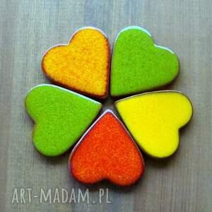 handmade magnesy serce kolorowe serduszka