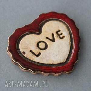 magnesy: Love magnes ceramiczny - walentynki