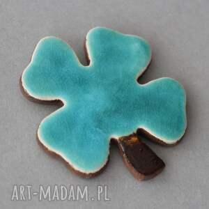 KOPALNIA CIEPLA magnesy: Na szczęście, koniczynka - magnes ceramika - minimalizm nauczyciel