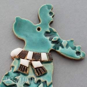 pomysły na upominki świąteczne prezent rudolfik magnes ceramiczny