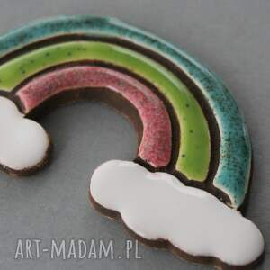 ręczne wykonanie magnesy energia tęcza magnes ceramika
