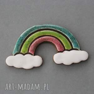 minimalizm magnesy tęcza magnes ceramika