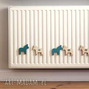 magnesy: zestaw 2 magnesów ze sklejki seria konie - drewniane ozdoby
