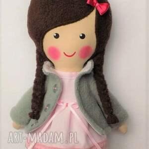 lalka różowe malowana lala wiki z szalikiem
