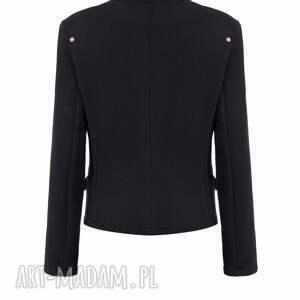 czarne marynarki dresowa bien fashion bawełniana marynarka
