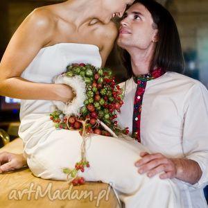 folk marynarki koszula ślubna inspirowana
