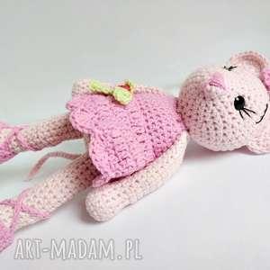 różowe maskotki myszka alinka - baletnica