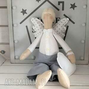 hand-made maskotki anioł tilda pamiątka chrztu