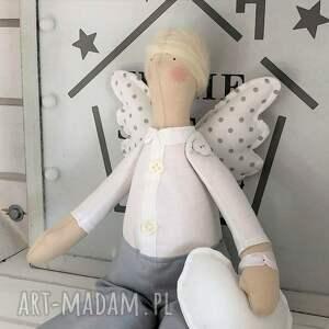 hand-made maskotki tilda anioł pamiątka chrztu