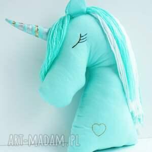 pony maskotki bajkowy miętowy jednorożec poduszka