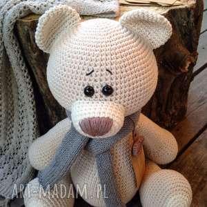 nietuzinkowe maskotki crochet duży szydełkowy miś me to you