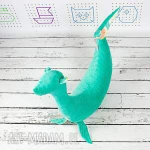 maskotki dekoracyjna foka sara turkus noc - poduszka do
