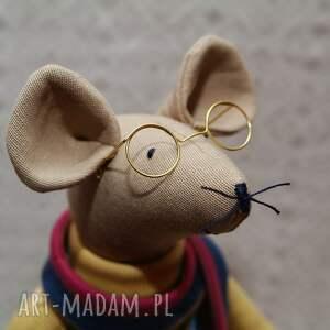szare maskotki mysz gryzoń luzak okularnik