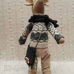 ręcznie wykonane maskotki szczur gryzoń luzak węzełek